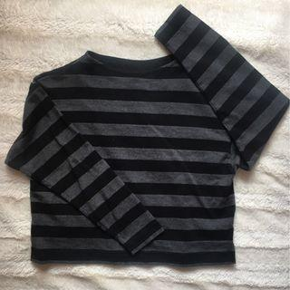 Stripe Boat Neck Long Sleeve Shirt (Uniqlo)