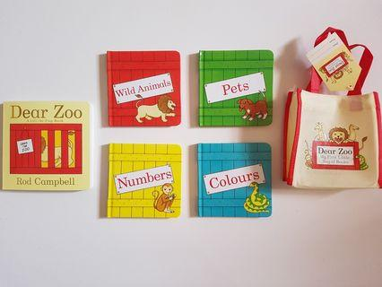 Dear Zoo A Lift-The-Flap Book + Dear Zoo First Books Set ( 4 books), Total 5 Board Book