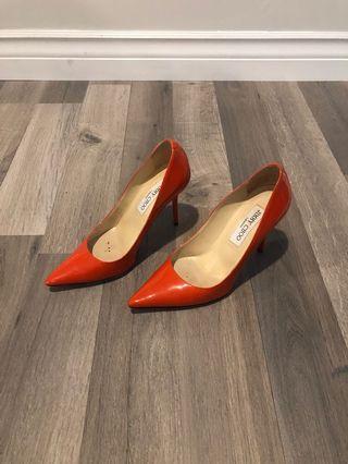 Jimmy Choo orange patent pumps shoes heels
