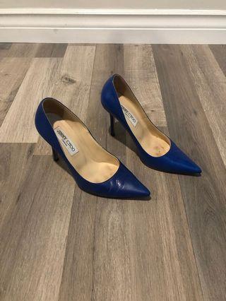 Jimmy Choo blue heels shoes