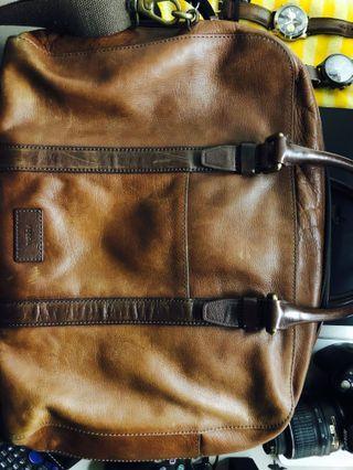 Fossil Original 100% Leather Laptop Bag