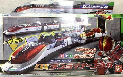 2009年 全新 未開封 幪面超人 電王 DX時空列車 發光 發聲 四段車廂 全套