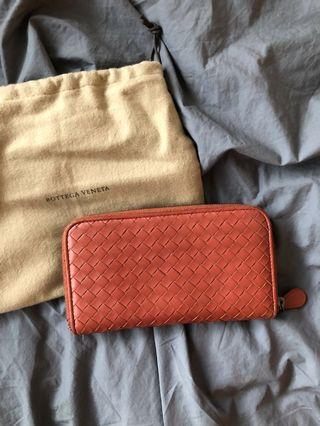 Authentic Bottega Veneta Napa zip around Wallet