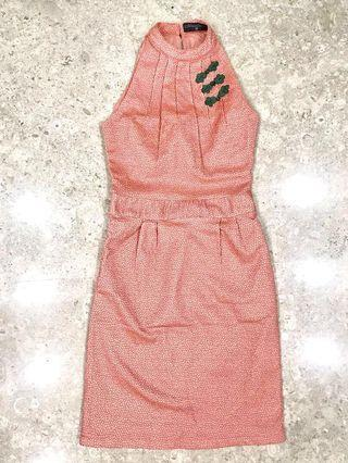 🚚 Cheongsam Pink Peach Lovely Sweet