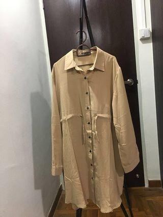 Plus Size Khaki Blouse