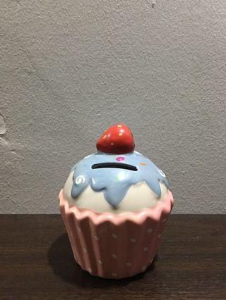 Ceramic Cupcake Coin Bank