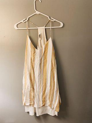 Yellow Striped UO Dress