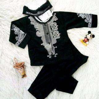 Set Baju Koko Anak Black Panther