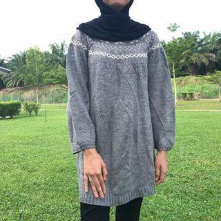 Long knitwear top