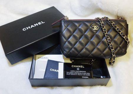 chanel pouch clutch chain 手拎袋 斜孭袋 化妝袋