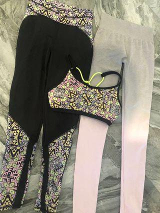 Gym Set + free leggings all for $30