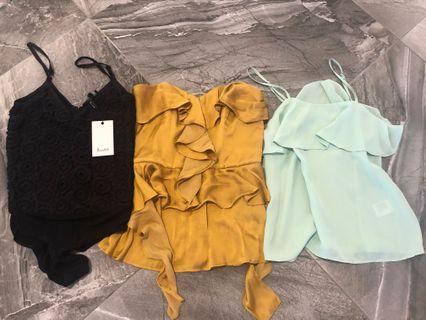 3 Bardot XS tops all for $40