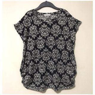 Black Abstract Blouse.Free Size Fits up to L. Well kept in packaging.