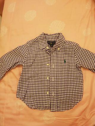 🚚 男baby Ralph Lauren基本款襯衫18M 9成新 喝喜酒穿超帥