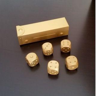 Aluminium Alloy Gold Dice