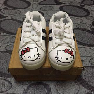 """LED"" WHITE KITTY SPORT SHOES"