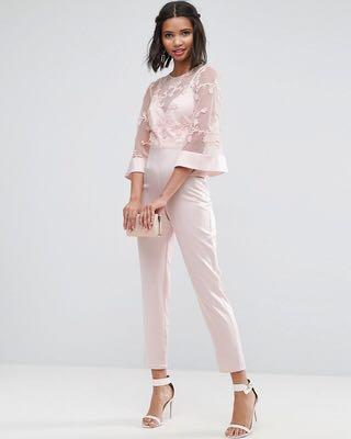 NEW Pink Satin lace jumpsuit