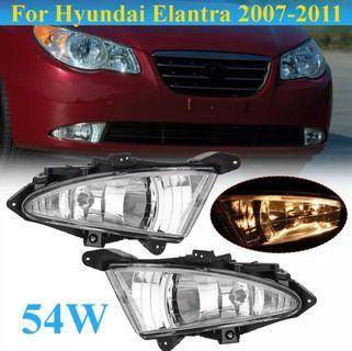 (Price reduced) Hyundai Elantra 2007~2011 Car External Light Lamp 1 Pair Daytime Running light Clear Front Fog Lights w/ 881 27W Bulbs