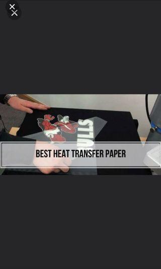 READYSTOCK 10 Pcs Heat transfer sublimation paper DIY t-shirt shirt top