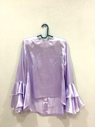 Purple Saloma Satin Top