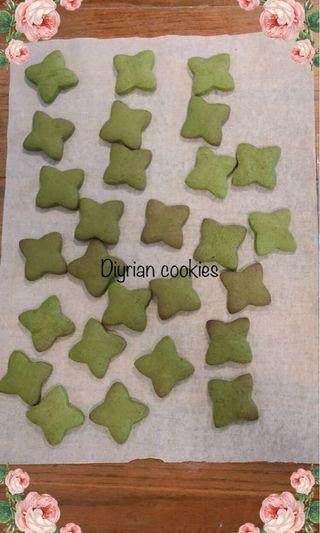 抹茶曲奇 (Matcha cookies 🍪 )🍀(沒有加工色素)