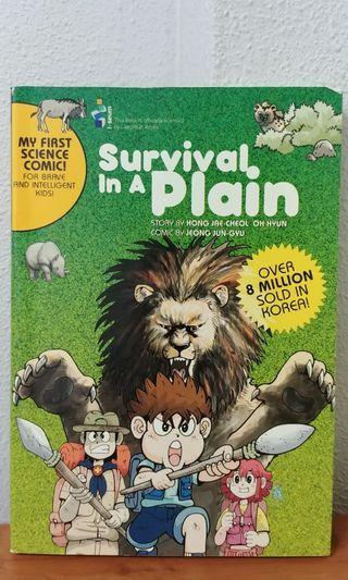 Survival in a plain children science comic book