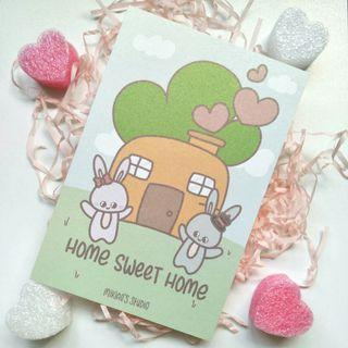 🚚 Home Sweet Home Postcard