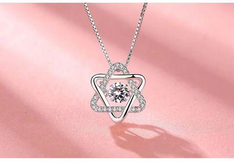 🚚 S925 Silver Star Swarovski Elements Crystal Necklace
