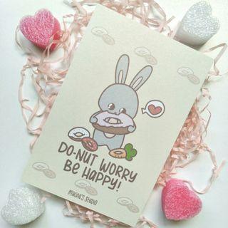 🚚 Do-nut Worry Be Happy Postcard