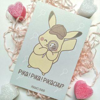 🚚 Detective Pikachu - Pika! Pikachu? Postcard