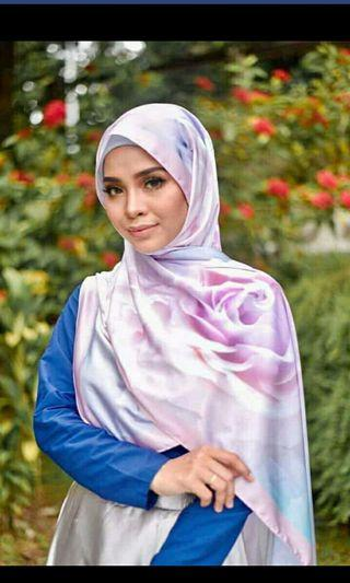 Exclusive Printed Satin Shawl