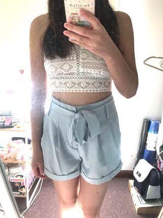 Baby Blue Shorts | Size 8