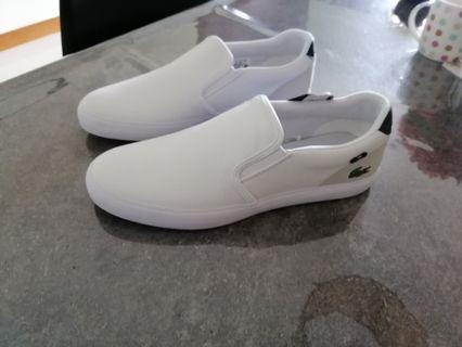 BNWT Lacoste Men White Shoes Slip on