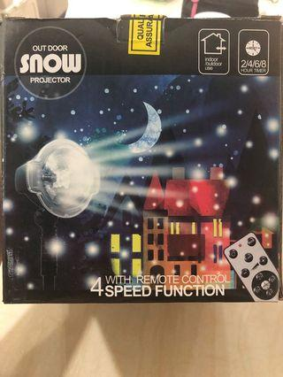 Christmas LED Snowflake Outdoor Projector Show with Wireless Remote, Waterproof, Timing Function, Rotating Projection