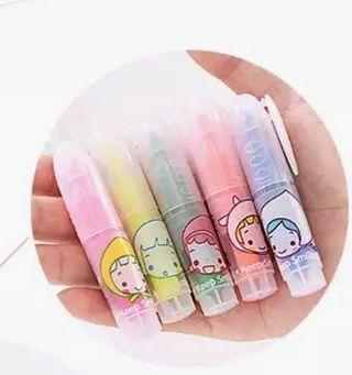 5 Mini highlighters pack