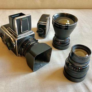 Hasselblad 503cx, 40, 80 and 150mm lenses. Excellent condition pro medium format film kit