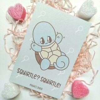 🚚 Squirtle? Squirtle! Postcard