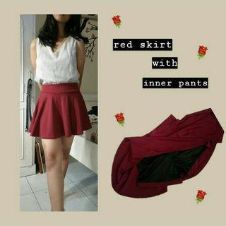 Red Skirt with inner pants