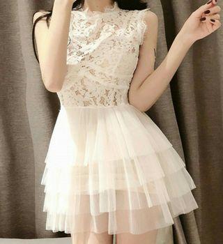 ♥公主風花邊連身裙♥