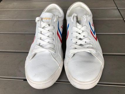 🚚 Classic White leather Feiyue Sneakers