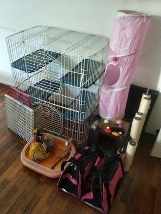Cat Tree & Cages