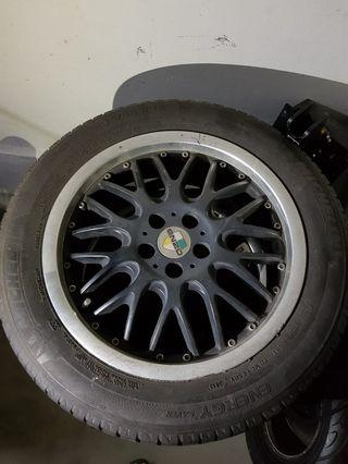 "16"" used rims wit tyre 5×100 take out from toyota wish"