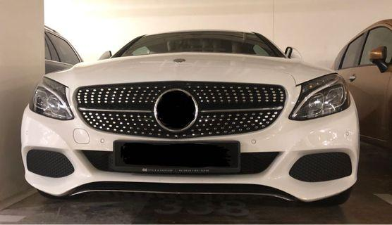 Fitted for W205 Diamond Grill - Ready Stock