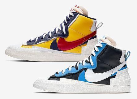 Sacai Nike blazer confirmed pair