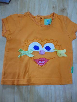 Sesame street shirt 0-6