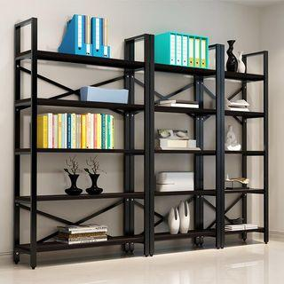 簡約鋼木組合書架