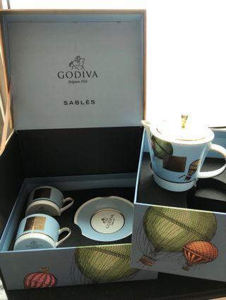 GODIVA 全新二人法式tea set
