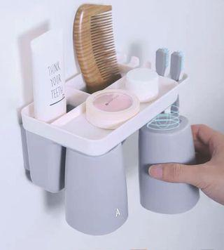 Magnetic Cup and Toothbrush holder
