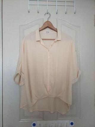 Plus Size Pale Yellow blouse with camisole (UK18)