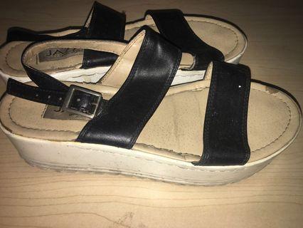 Jazz Wedge Sandals
